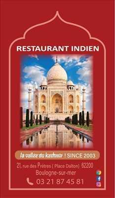 Exemple Restaurant Halal n°633 zone Pas de Calais par la vallée du kashmir ! SINCE 2003